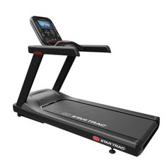 The 4TR Treadmill from Star Trac is a light institutional rated treadmill designed for walking and running during cardiovascular workouts. The powerful 3 HP DC motor will handle users up to 514 pounds in weight. Motor speed beginning at 0.5 mph is great for active aging and those going through rehabilitation. A top end running speed of 12 mph and an incline up to 15% will challenge the most serious of athletes.