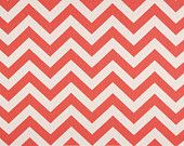 Premier Prints is a USA fabric manufacturer that prints fabric for bedding, upholstery, baby products, pillows, and other home decor products. The fabrics are designed and printed in the USA. Coral Fabric, Chevron Fabric, Coral Chevron, Chevron Table, Coral Print, Nursery Curtains, Windham Fabrics, Premier Prints, White Home Decor