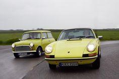 Prancing Porsche vs. the mad Mini