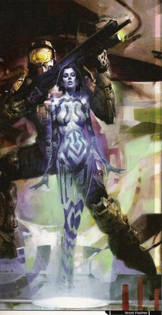 Comic Book Cortana in Halo Graphic Novel's Halo 2 prequel