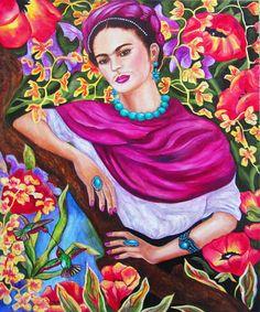 Frida Kahlo Frida Kahlo arte Frida Kahlo impresión del arte