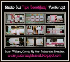 Just Crazy Blessed : Live Beautifully Scrapbook workshop with Cutting Files!