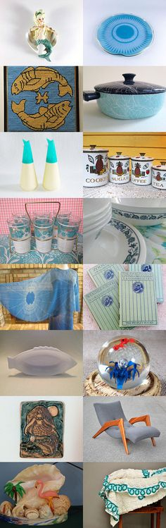 Mermaid`s Home with TeamKitsch Vintage by Laura Brown on Etsy--Pinned with TreasuryPin.com