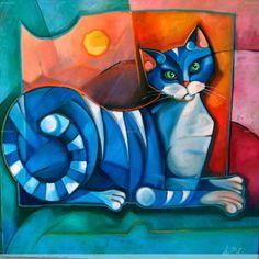 pintura gato - Buscar con Google