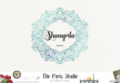 Watercolor Mandala Logo Design - restaurant branding, spa logo, boutique logo, creative business branding or small business logo.