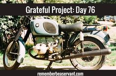 """Grateful Project: Day 76 - Today I'm grateful for retro. Wow! Did you just see that old car/motorcycle pass by? You ever say that? Yeah me too. Retro means: """"backwards, or in past times"""" ... but we live in a revolution and things go in a circle not forwards or backwards. Retro lives on forever! #gratefulprojectday76 #rbas #retro"""