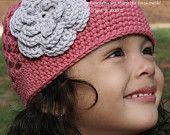 Items similar to Crochet Hat Patterns - Flower Power Cap Pattern Adult Ladies Womens Baby Child Sizes English on Etsy Crochet Beanie Hat, Crochet Baby Hats, Easy Crochet, Knitted Hats, Crochet Flower Patterns, Crochet Flowers, Hat Patterns, Pattern Flower, Crochet Ideas