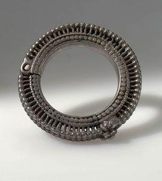 Afghanistan | Bracelet; metal (silver) | Pushtun nomad | Purchased 1963, Kabul