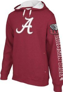 "Alabama Crimson Tide Adidas ""Spirit"" Pullover Hooded Sweatshirt"