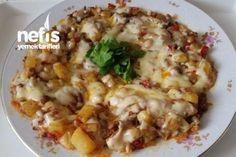 Kahvaltılık Kaşarlı Tava Tarifi Breakfast Items, Risotto, Potato Salad, Macaroni And Cheese, Meat, Chicken, Dinner, Ethnic Recipes, Foods