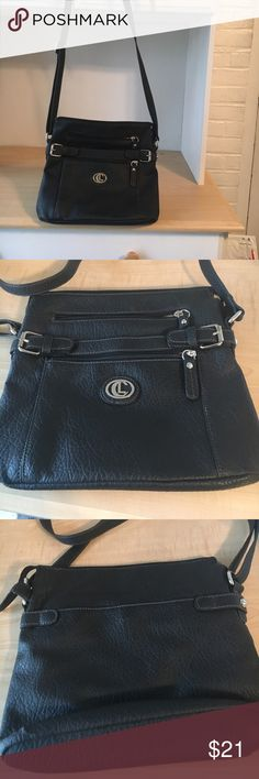 """LC Lauren Conrad shoulder bag Black, brand-new and never used bag; but love it; just too small for my use. Excellent condition, no marks, clean inside. 10"""" length , 11"""" width. All man made, pebbled grain look; looks very much like real weather! LC Lauren Conrad Bags Shoulder Bags"""