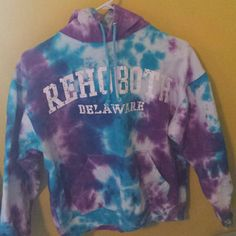 Rehoboth, Delaware Tye Dye Sweatshirt I don't wear this anymore, as you can tell, its too small for me. It's a small tye dye sweatshirt that fits more like an XS.   No trades but willing to negotiate! Thank you!! Tops Sweatshirts & Hoodies