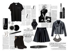 """""""black autmn look"""" by judith-de-vries ❤ liked on Polyvore featuring Marc Jacobs, Gwyneth Shoes, La Femme, MSGM, Neil Barrett, H&M, NARS Cosmetics, NYX, Salvatore Ferragamo and Mary Kay"""