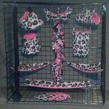 Grey leopard Fsha * 15 piece Sugar Glider Cage set * Rat * double layer Fleece