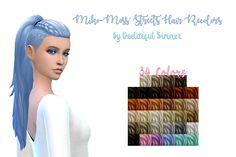 Split dye hair recolor at Bellal Sims • Sims 4 Updates