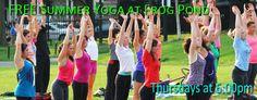 FREE YOGA @ THE FROG POND • through August 28 • 6pm-7pm • bostonfrogpond.com
