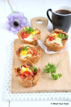 ontbijt muffins met spek