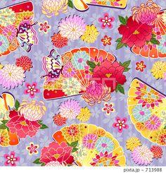 花扇パターンのイラスト素材 by madara