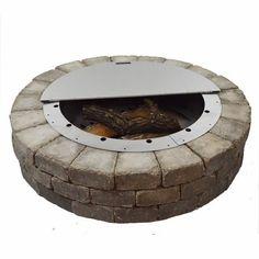 Round Stainless Steel Fire Pit Cover Firebuggz In 2020 Feuerstelle Feuertisch Feuerstellen Tisch