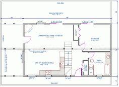 Floor plan main floor of 24'x40' home