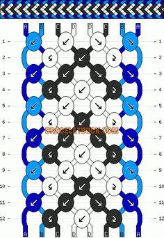 Normal Friendship Bracelet Pattern #1711 - BraceletBook.com