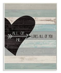 This All Of Me Loves All Of You Wall Art is perfect! #zulilyfinds