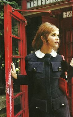 modrules: 1960's fashion shoot in a London red phone box