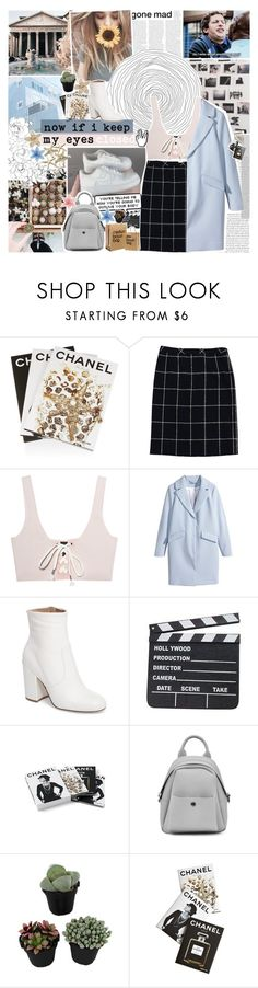 """""""he looks just like you"""" by www-purrtydino-org ❤ liked on Polyvore featuring Assouline Publishing, ESCADA, Puma, H&M, Steve Madden, Chanel, magazine, Trench and polyvoreeditorial"""