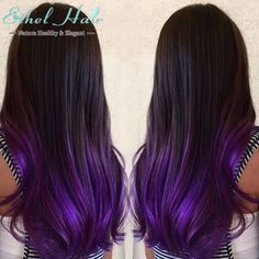 Ombre Hair Extensions 2Tone Ombre Brazilian Virgin Hair Straight T1B/purple Ombre Human Hair, Ombre Brazilian Hair Weave Bundles