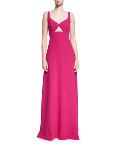 f6bd2cc91b4f Jill Jill Stuart Sleeveless Cutout Crepe Evening Gown
