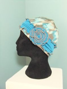 2290f61005f DIY chemo cap and free scarf pattern Snip-Rip-Hooray Diy Head Scarf