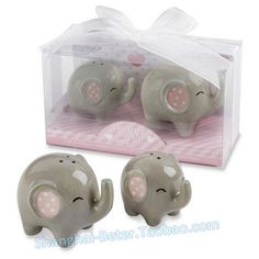 Find the Kate Aspen® Little Peanut Ceramic Elephant Salt & Pepper Shaker Sets, at Michaels. Send your baby shower guests home content when you give them these adorable ceramic elephant salt and pepper shakers. Unique Baby Shower Gifts, Baby Shower Favors, Shower Baby, Baby Showers, Bridal Shower, Circus Party Favors, Peanut Baby Shower, Kate Aspen, Ceramic Elephant