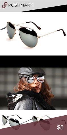 159b4e7668de4 Aviator Sunglasses Aviator Sunglasses black lenses in gold frame  Accessories Sunglasses