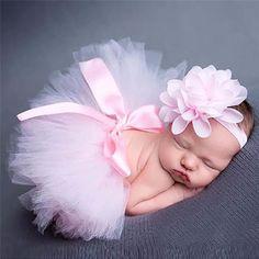 Photo props tutu sets+flower headband baby photo props