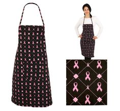 Great aprons to wear for October, Breast Cancer Awareness month parties