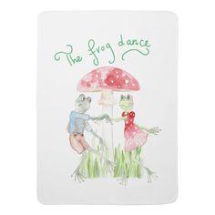 """The Frog Dance"" Baby Blanket"