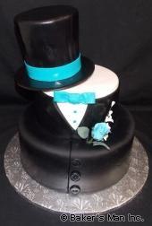 Tuxedo Top Hat Baby Shower Cake