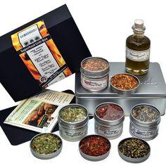 Bio Grill Gewürz Superfood Set - Geschenke für Männer - für Rubs, Marinaden und Glasuren für Grillmeister und -amateure plus Info-Heft mit Rezepten und Anregungen