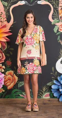 Vestido Chevron de Rosas I