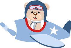 Ursinho Aviador ✈️ Nursery Art, Nursery Design, Cute Animals Images, Bear Theme, Baby Boy Birthday, Cute Teddy Bears, Blue Roses, Childrens Party, Picture Design