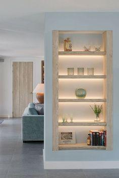 Home Room Design, Home Interior Design, Living Room Designs, Interior Design Inspiration, Living Room Partition Design, Room Partition Designs, Shelf Inspiration, Living Room Interior, Living Room Decor