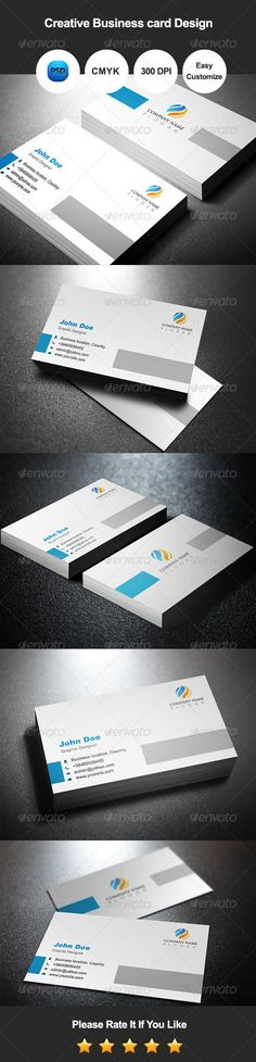 Buy Creative Business Card Design by graphicsdesignator on GraphicRiver. We are introducing Creative Business card Design. It's a Ready to use Template. We made it by using adobe photoshop. Minimal Business Card, Professional Business Cards, Business Card Design, Creative Business, Business Branding, Shapes Images, Photoshop Design, Stationery, Card Card