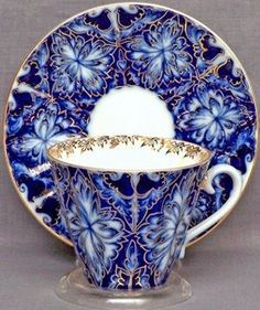 Russian Teacup and Saucer