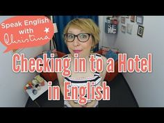 Check in to a Hotel in English