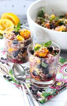 quinoa and mixed fruit salad