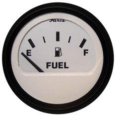 "Faria Euro White 2"" Fuel Level Gauge (E-1/2-F) - https://www.boatpartsforless.com/shop/faria-euro-white-2-fuel-level-gauge-e-12-f/"