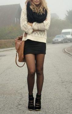 jupe noire haut blanc