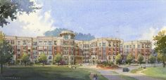 Crescent Resources LLC has recently broken ground on its newest project: the $ 52 million luxury apartment community—Circle South Park—in Charlotte's South Park neighborhood.