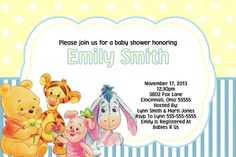 Baby Shower Invitation - Winnie the Pooh - Any Colors | ajinvites - Gift Giving on ArtFire