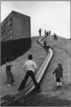 Martine Franck. GB. England. Yorkshire. Suburb of Newcastel upon Tyne. 1977.